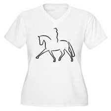 Dressurpferd Plus Size T-Shirt
