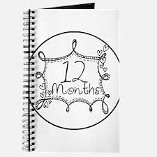 12 Months Doodle Milestone Journal