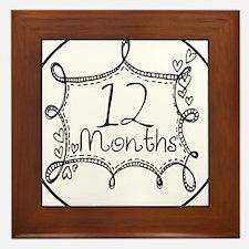 12 Months Doodle Milestone Framed Tile