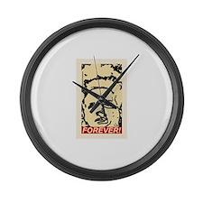 Eraserhood Forever! Large Wall Clock