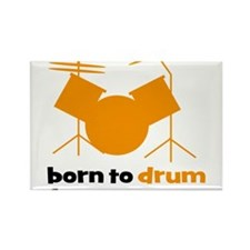 born to drum forced to work Rectangle Magnet
