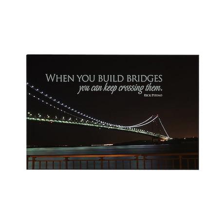 Build Bridges Rectangle Magnet