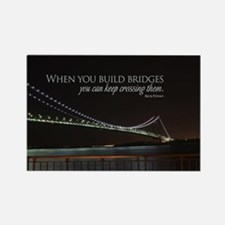 Build Bridges Rectangle Magnet