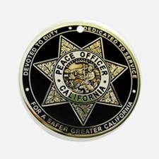 California Peace Officer Ornament (Round)