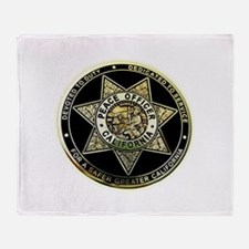 California Peace Officer Throw Blanket
