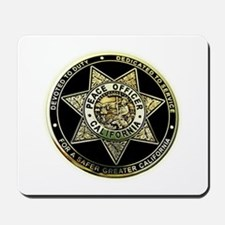 California Peace Officer Mousepad