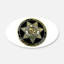 California Peace Officer Oval Car Magnet