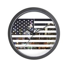 U.S. Flag Wall Clock