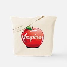 Inspire Apple for Teacher Tote Bag