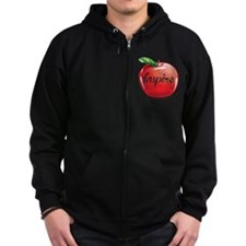 Inspire Apple for Teacher Zip Hoody