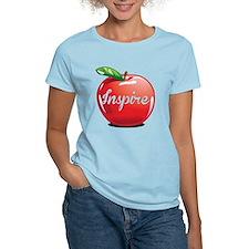 Inspire Apple for Teacher T-Shirt