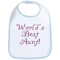 World's Best Aunt! - Purple Bib