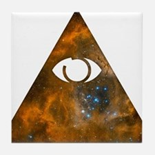 All Seeing Pyramid Tile Coaster
