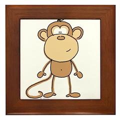 The Monkey Framed Tile