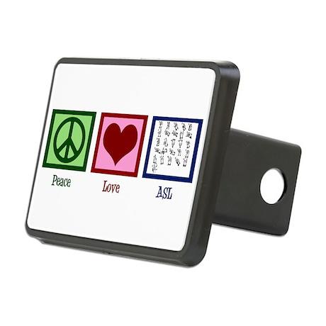 Peace Love ASL Rectangular Hitch Cover