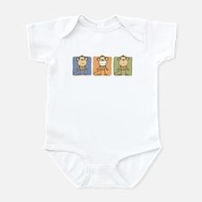 Monkey Trio Infant Bodysuit