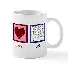 Peace Love ASL Mug