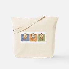 Monkey Trio Tote Bag