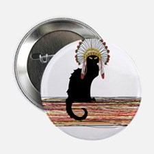 """little Indian chief kitty cat 2.25"""" Button"""