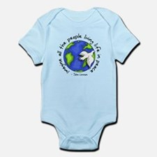 Cute Peace and anti war Infant Bodysuit