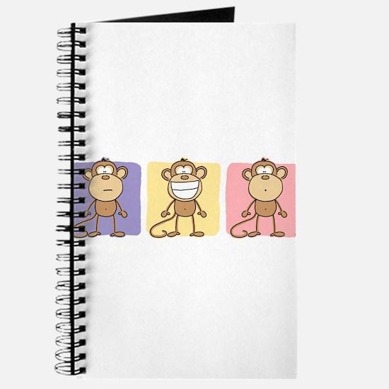 Monkey Trio Pastel Journal