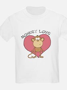 Monkey Love Kids T-Shirt