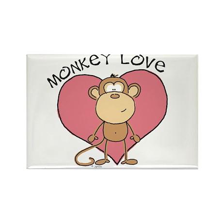 Monkey Love Rectangle Magnet (10 pack)