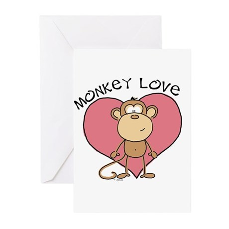 Monkey Love Greeting Cards (Pk of 10)