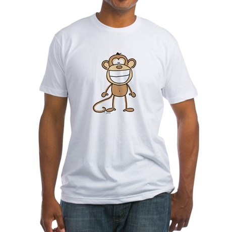 Big Monkey Grin Fitted T-Shirt