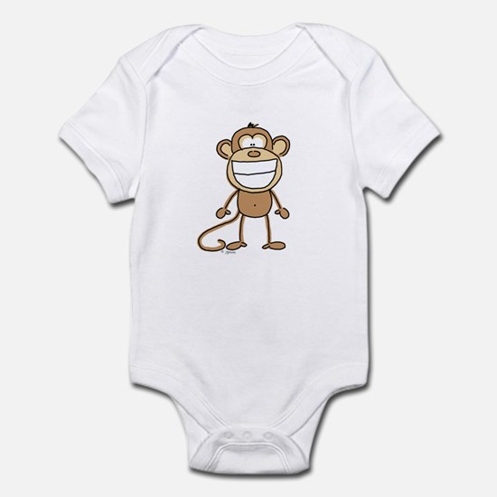 Big Monkey Grin Infant Bodysuit