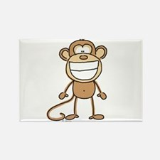 Big Monkey Grin Rectangle Magnet