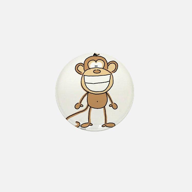 Big Monkey Grin Mini Button