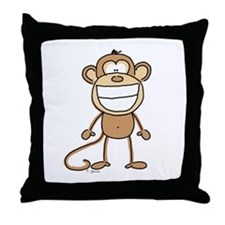 Big Monkey Grin Throw Pillow