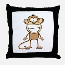 Big Monkey Grin Throw Pillow