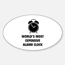 World's Most Expensive Alarm Clock Decal