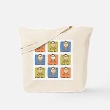 9 Monkeys Tote Bag