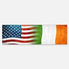 Irish American Flags Bumper Bumper Bumper Sticker