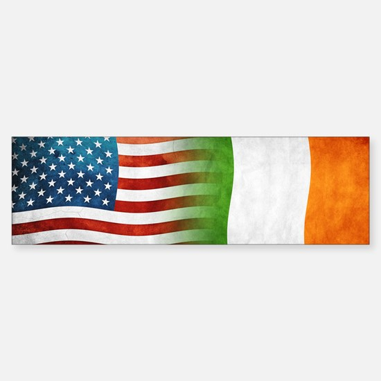 Irish American Flags Bumper Bumper Bumper Sticker