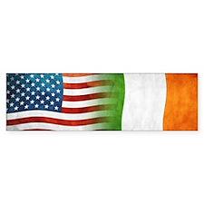 Irish American Flags Bumper Bumper Sticker