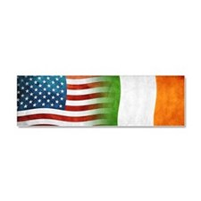 Irish American Flags Car Magnet 10 x 3