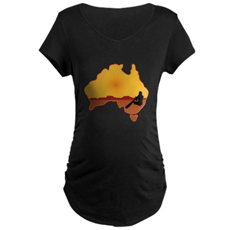 Australia Aboriginal Maternity Dark T-Shirt