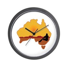 Australia Aboriginal Wall Clock