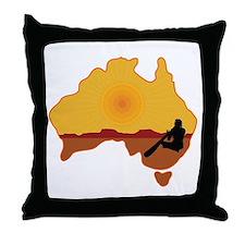 Australia Aboriginal Throw Pillow