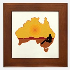 Australia Aboriginal Framed Tile