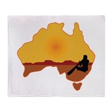 Australia Aboriginal Throw Blanket