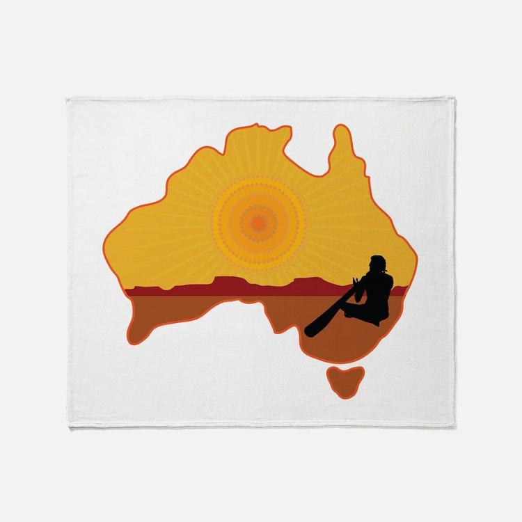 Australia Aboriginal Throw Blanket