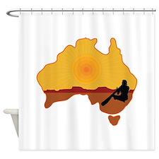 Australia Aboriginal Shower Curtain