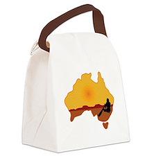 Australia Aboriginal Canvas Lunch Bag