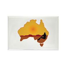 Australia Aboriginal Rectangle Magnet