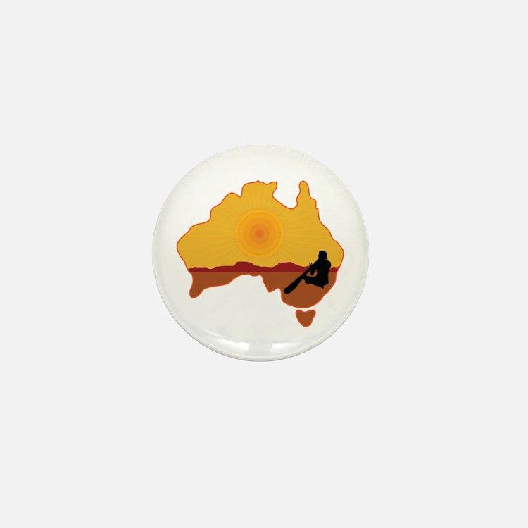 Australia Aboriginal Mini Button